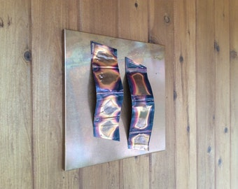 Python Boots / Copper wall art / Abstract
