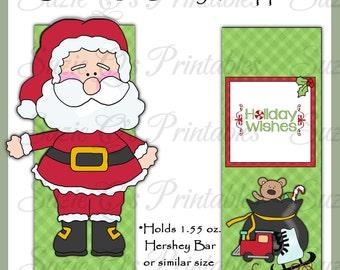 Santa 3D Candy Bar Wrapper - Digital Printable - Immediate Download