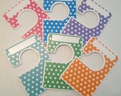 6 closet dividers any size - adult or baby polka dot Large clothing separators 1.5 inch rods Closet Doodles® CLG6