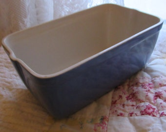 Hall Bread/Cassarole Baking Dish/Made Exclusively For Westinghouse/Excellent Condition/Perewinkle Blue/White  Interior