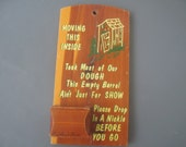 Vintage Plaque Kitsch Bathroom Wood Souvenir
