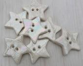 Star Buttons - Pearl Star Buttons - Handmade Buttons - Star Button - Mother of Pearl Buttons - Mother of Pearl Star Button - Sewing Buttons