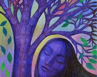Dream Tree.   Signed Giclee print.