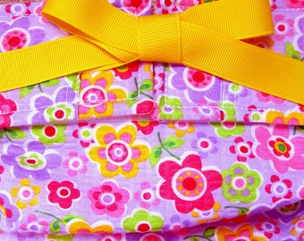 Dog Diapers, Panties, or Britches Bright Flowers on Lavender Plissee