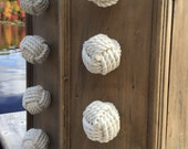 Nautical Decor - 2  Cape Cod Drawer Pulls - Knot Drawer Pulls and Doorknobs in Cotton Rope