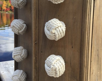 Nautical Decor - 6  Cape Cod Drawer Pulls - Knot Drawer Pulls and Doorknobs in Cotton Rope