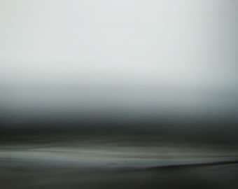 Fog Morning, abstract oceanscape, zen landscape, surreal landscape, grey, white, black, abstract seascape, giclee photo print, canvas