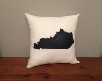 Kentucky Pillow with Customizable Heart