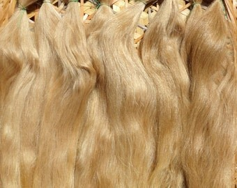 Combed Suri Alpaca Doll Hair 1/2 of an ounce 7-8 inches long Golden Blonde and Light Medium Brown