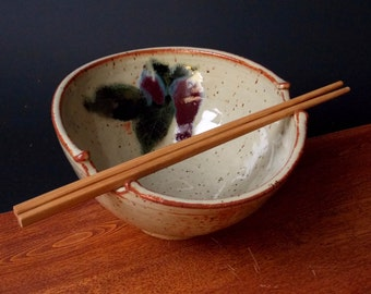 Stir Fry Rice Bowl With Chopsticks ~ Apple Design ~