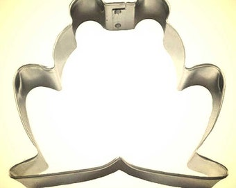"""chubby FROG Cookie Cutter Toad cookie cutter 3.5 by 3.5"""""""