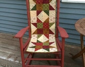 Handmade Quilted Holiday Stars Table Runner Civil War Quilt