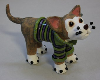"Dog Sculpture ""Cool Kyle"" - Custom Pieces Available Upon Request"