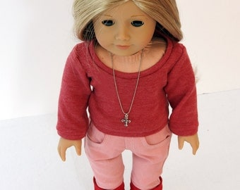 SALE 18 Inch Doll Clothes Handmade Sweater, Skinny Jeans