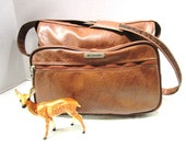 Vintage, Samsonite Silhouette Luggage, Soft Sider Shoulder Bag, Carry On, Overnighter, Brown Vegan Faux Leather, Clean, Suitcase, Deluxe