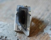 Rare Polyhedroid Agate Brazil- Paramorphic Ring-