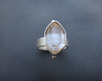 Crystal Quartz Sterling Silver Ring