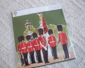 Vintage Greeting Card British Guards 3D Greeting Card Great Britain Collectible