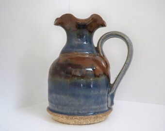 Vintage Collectible Hand Made Pottery Miniature Pitcher Signed
