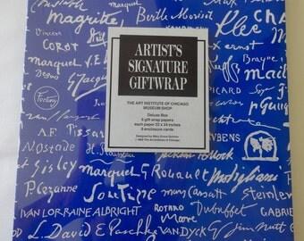 RARE!  1980's Vintage artists signature gift wrap