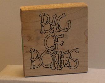 Bag of Bones Rubber Stamp