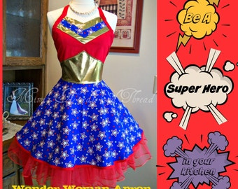 Wonder Woman Apron...made to order