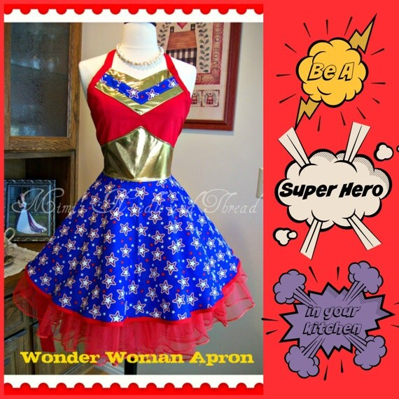Wonder Woman Apron...made to order