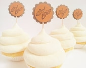 3 DOLLAR SALE Rustic Acorn Cupcake Toppers Fall Autumn Thanksgiving Leaf Toothpick Toppers Wedding, Bridal Shower, Holiday