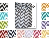 Chevron Valance or Curtain (1) in your choice of fabric -  Lined or Unlined - FREE Domestic Ship