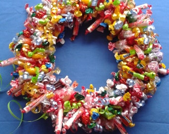 wreath, candy wreath, special occassion candy wreath