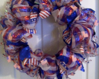 Memorial day Patriotic wreath, fourth of July wreath, Independance day wreath