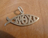 ICHTYS Become a menfisher Christian Gold carm first christian sign Fish 14 K Gold