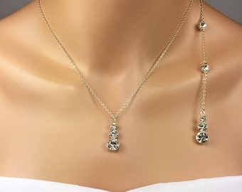 Prom Jewelry Set Rhinestone Jewelry Prom Jewelry Back Necklace Demetria