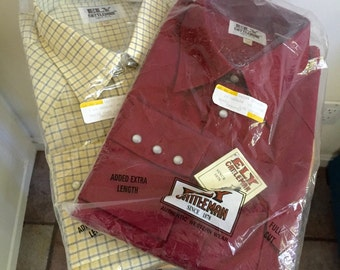 Set of two Western Shirts in Package  // Vintage Ely Cattleman // FREE Shipping