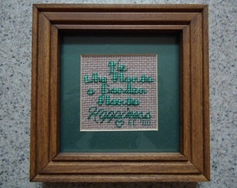 He Who Plants a Garden - Inspirational Cross Stitch Picture - Wall Decor