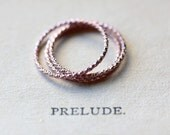 Rose Gold Stacking Ring - Thin Ring Stackable Rings Skinny Ring Knuckle Ring Faceted