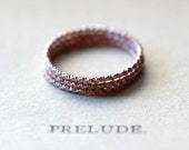 Rose Gold Stacking Ring Set of Three - Thin Ring Stackable Rings Skinny Ring Knuckle Ring Faceted