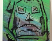 SALE! Custom Made Canvas for Comic Book Character Sketch - Michel Fiffe Original Art