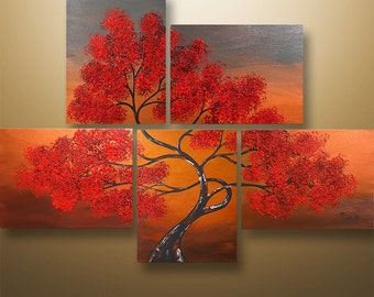 """Abstract Painting,Landscape Painting, Acrylic painting, Wall Art, Wall Decor, Tree Painting, Painting, Large Painting, Original, 44"""""""