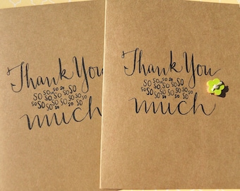 Thank You Cards - Shower Thank You Cards - Wedding Thank You Cards - Friendship Cards - Set of 4 cards  - wf12
