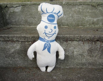 Vintage Pillsbury Dough Boy Doll Advertising Doll Stuffed