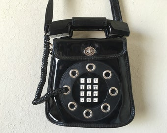 Vintage Telephone Purse Avant Garde 1970s Retro Mobile Phone Fashion Statement
