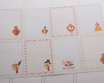 8 Thanksgiving Planner Stickers Squares Full Box Stickers PS215 Fits Erin Condren Planners