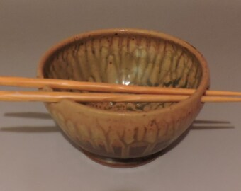 Handmade Pottery Noodle or Rice Bowl
