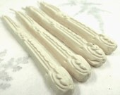 Natural Sealing Wax 4 sticks IVORY color with wick. Traditional mold - for stamps, seals, non toxic, plastic-free, gift-wrapped