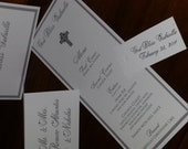 Cross Theme Day Of Event Accessories, Baptism, Christening, Church, Wedding, Menu, Table Number, Place Card, Favor Tag