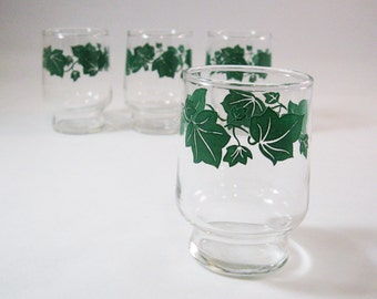 Tiny Ivy Cordial/ Juice Glasses