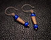 Bronze jewelry, Cobalt Bronze Earrings, Ancient jewelry,  greek earrings, roman earrings,  Ancient Inspired, dangle earrings, drop earrings