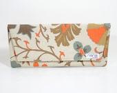 Nana handmade paisley/floral print Casey envelope clutch