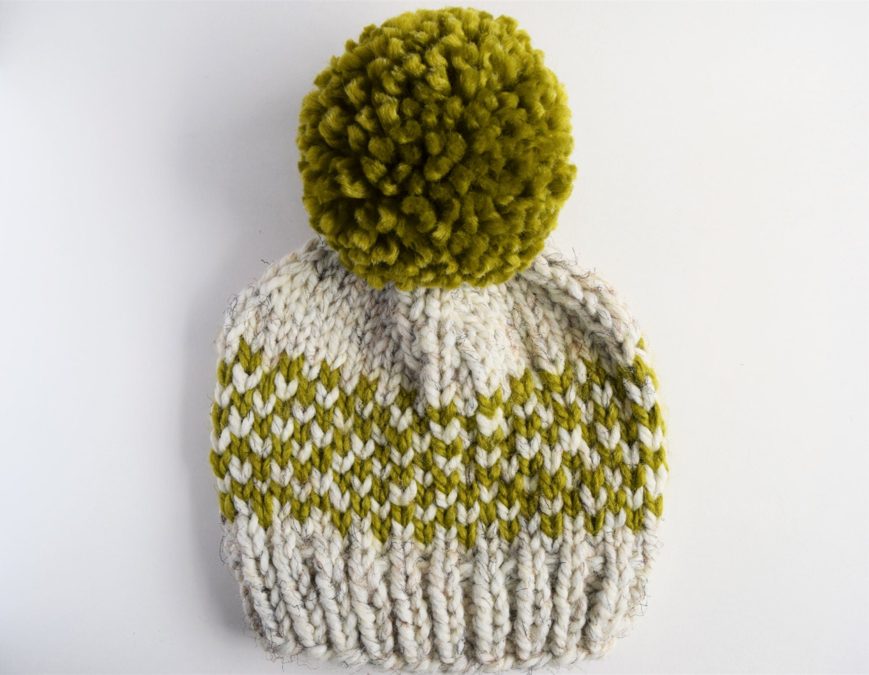 Knitting Pattern Hat 10mm Needles : Basic Fair Isle Hat Pattern